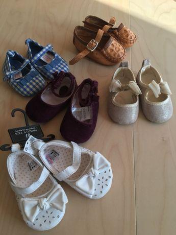 Buciki pantofelki buty balerinki 14/15 cm i mniejsze Next h&m