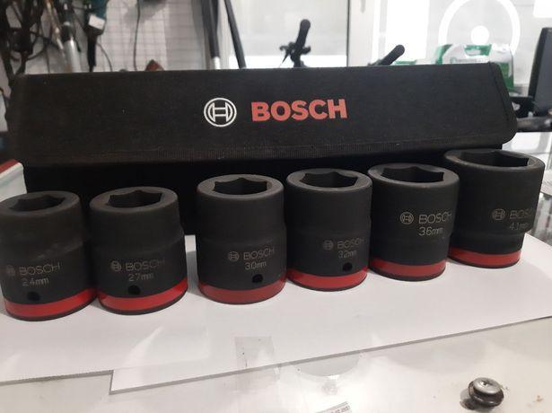 Набор ударных головок bosch дюймовые