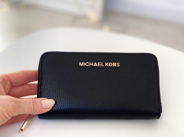 Черный кошелек Michael Kors, оригинал, натуральная кожа