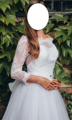 Przepiękna suknia ślubna z salonu Dolores r. 34/36; XS/S!