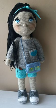 Duża lalka na szydełku 55 cm