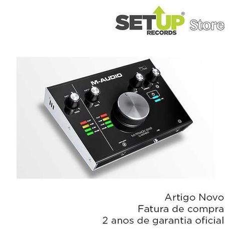 Placa de som M-Audio M-Track 2×2 - NOVA (2 unidades disponíveis)