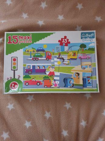 Puzzle maxi baby Trefl Na ulicy 15 elementów wiek 2+