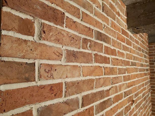 lica cegły,płytki ceglane,cegła cięta,płytki z cegły rozbiórkowej,loft