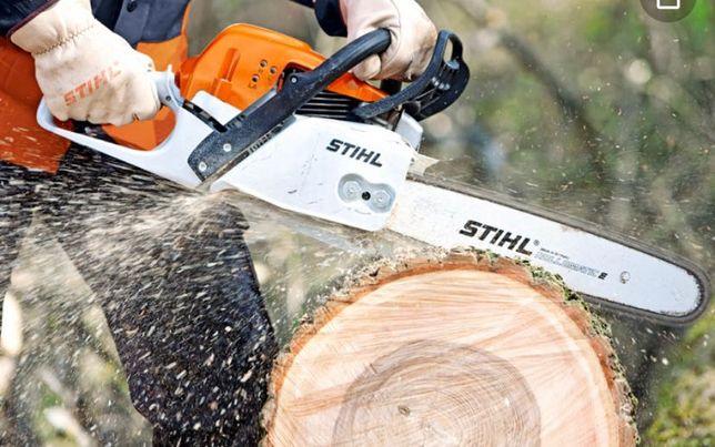 Wycinka drzew alpinistycznie, usługi rębakiem
