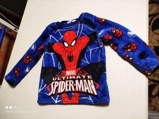 Флисовая кофта, свитер Человек Паук на 4-5 лет