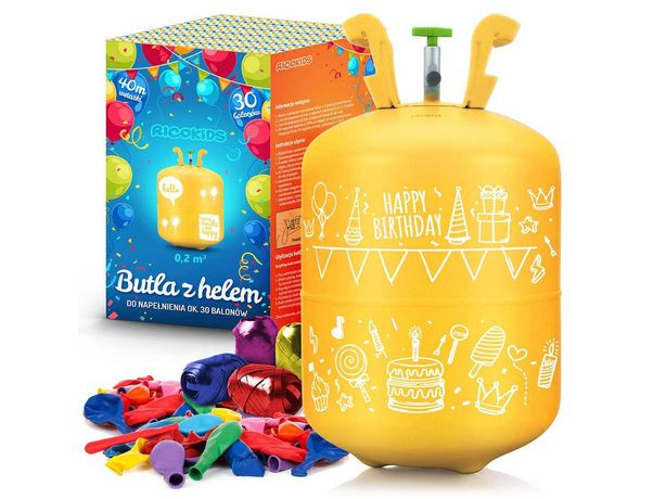 Butla z helem + balony i wstążka Ricokids 0,20m3 (799000)