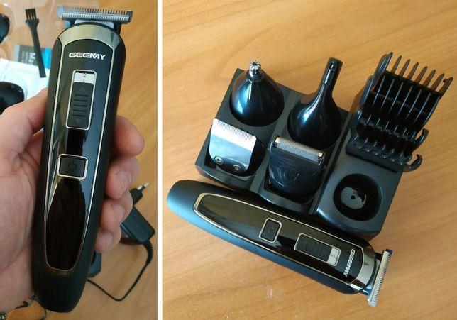 GEMEI GM-801 / триммер бритва / 10 насадок / машинка для стрижки