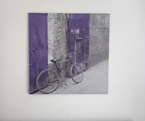Obraz cyfrowy-rower , fiolet