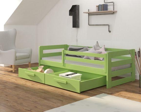 Łóżeczko jednoosobowe dla dzieci dostępne w wielu kolorach do wyboru