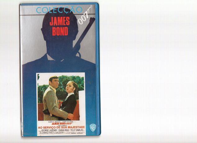 Colecção vintage James Bond 007 VHS ORIGINAIS