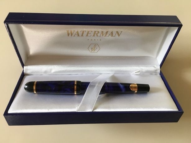 Ручка роллер Waterman Phileas Mineral Blue FP коллекционная позолота м