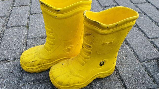 Kalosze gumiaki Crocs żółte oryginalne r.12-13