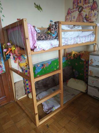 Кровать детская из липы