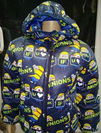 Продам детскую демисезонную курточку Миньоны