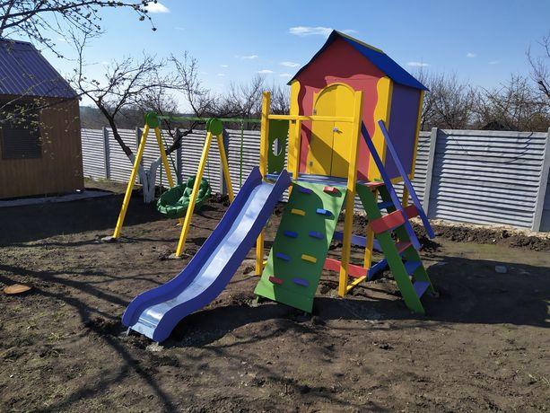 Детские площадки , домики , горки , качели