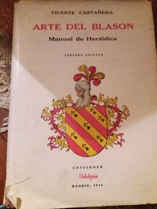 O libro Arte del Blason de Vicente Castaneda . Heraldica Estrela - imagem 1
