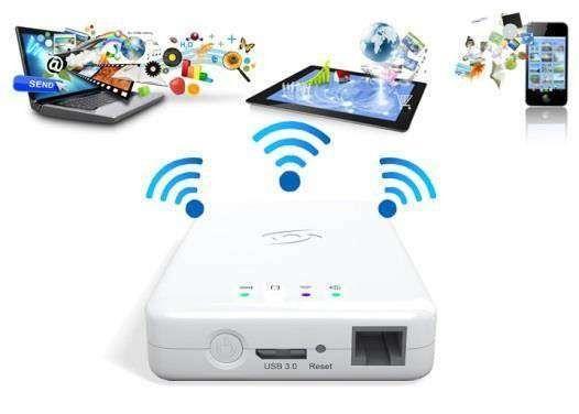 Disco rígido externo wi-fi