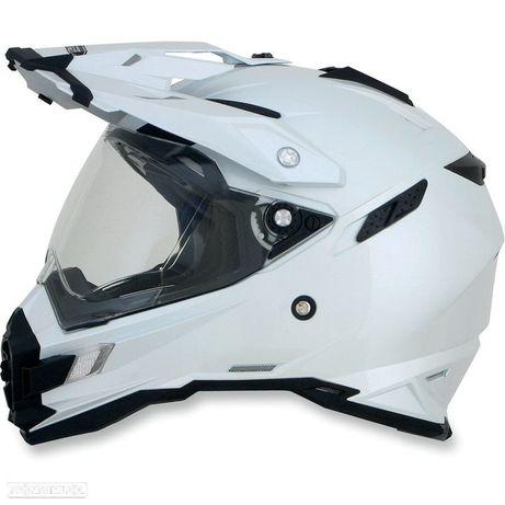 capacete afx fx-41ds adventure pearl white