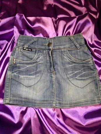 Юбка джинсовая,на девочку.