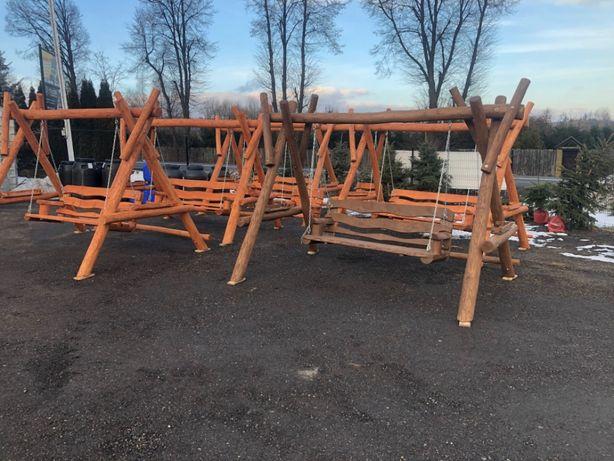 Huśtawka Ogrodowa Drewniana Z BALI MASYWNA Hustawki Meble Ogrodowe