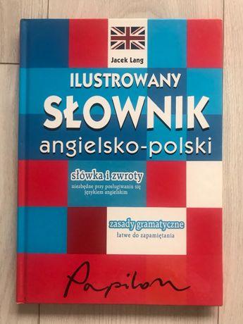 SŁOWNIK ilustrowany angielsko-polski Papilon słówka zwroty gramatyka