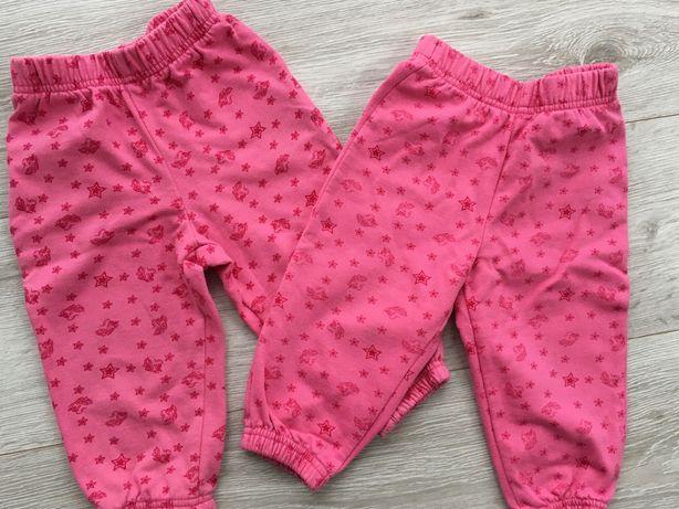 Ciepłe spodnie r. 80 bliźniaczki