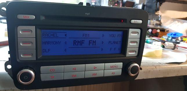 Radio Rcd 300mp3 vw golf passat turan polo kod