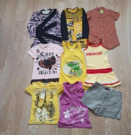 Пакет новой одежды для девочки, на 7 лет