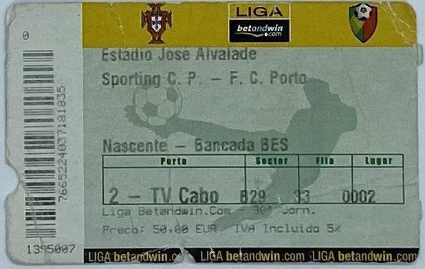 Bilhete de Futebol