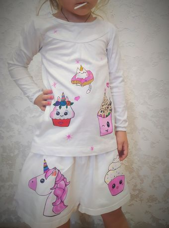 Шорты и кофточка для девочек пони пончик