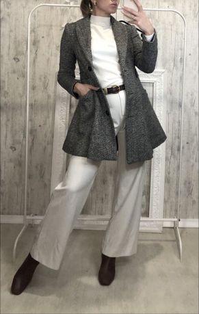 Итальянское пальто/пиджак/бомбер шерсть/драп