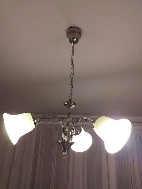 Zestaw lampa sufitowa i stołowa