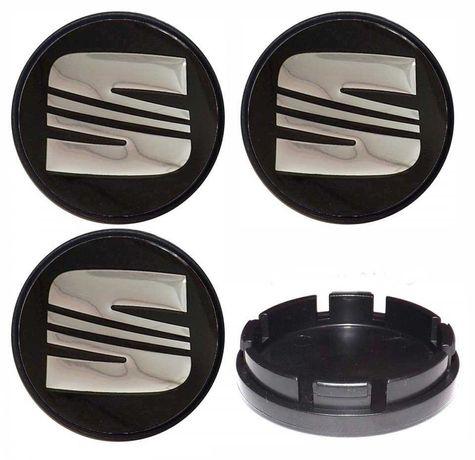 Centros/tampas de jante completos SEAT com 56, 60, 63, 65 e 68 mm