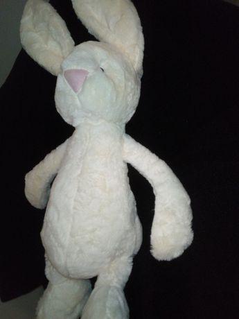 Duży królik maskotka wys z uszami  70 cm Nowy