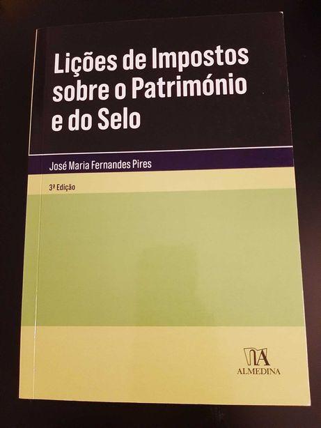 """Livro """"Lições de Impostos Sobre o Património e do Selo"""""""