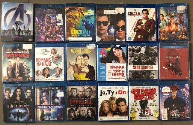 Filmy na Blu-ray PL NOWE w folii (Godzilla, Avengers, Aladyn i inne)