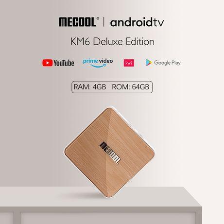 Смарт приставка MECOOL KM6 Deluxe Edition 4 \64  2\16ГБ