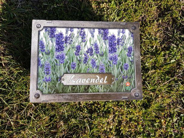 Zestaw do uprawy LAWENDA w ozdobnej skrzyneczce drewnianej