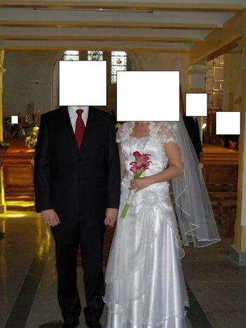Suknia ślubna z i bolerkiem i welonem gratis