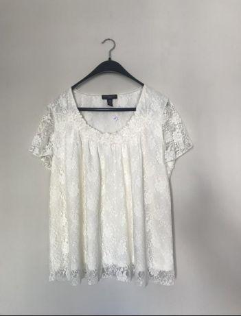 Біла блузка мережівна , блузка