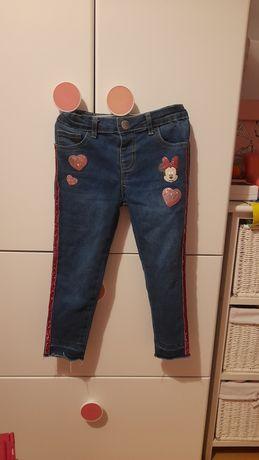 Jeansy dzinsy spodnie Minnie Myszka