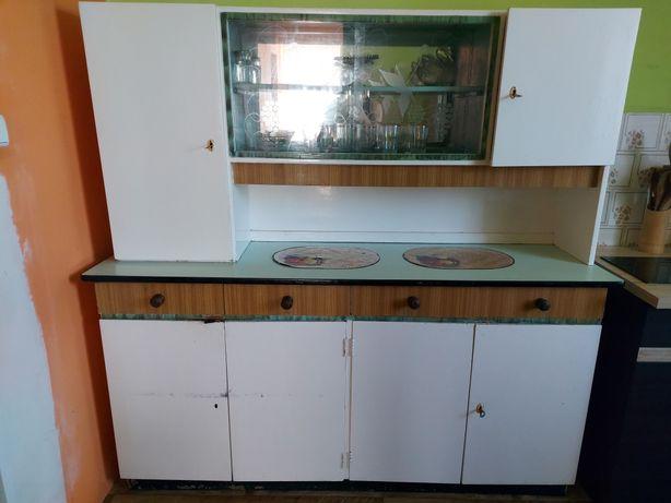 KREDENS kuchenny - stary, z lustrem
