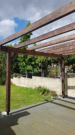pergola em madeira - Madeira&Conforto