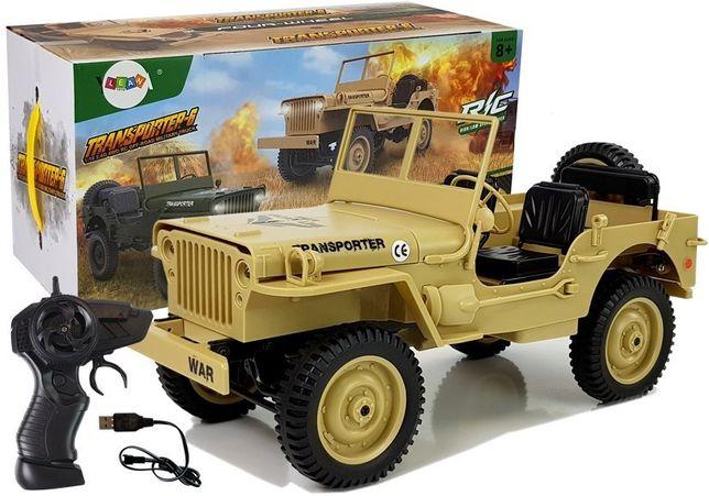 Auto Zdalnie Sterowane 4x4 Jeep 1:10 Żółte 33cm