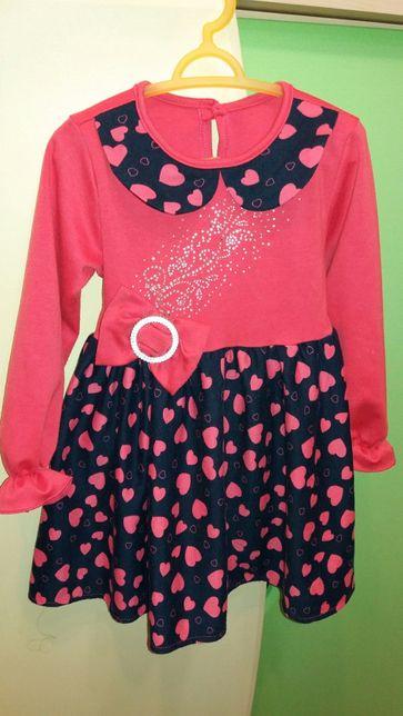Платье трикотажное теплое 104 см