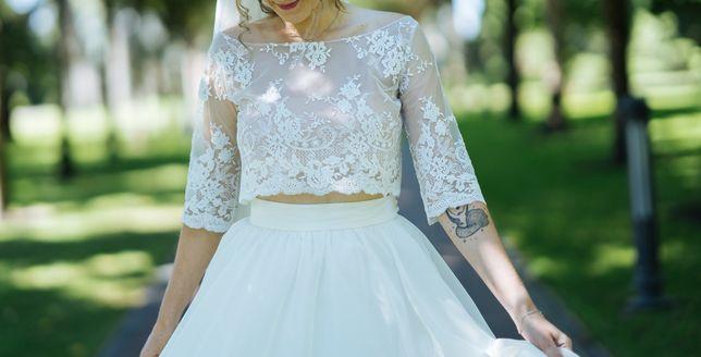 Оригинальное свадебное платье ручной работы