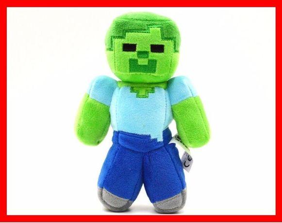 Зомби из игры Майнкрафт 17/25 см мягкая плюшевая игрушка Minecraft