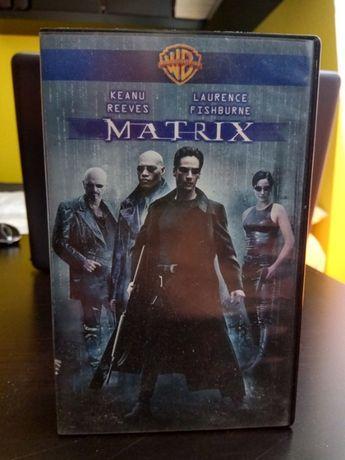 Oryginalna kaseta VHS z kultowym filmem Matrix.