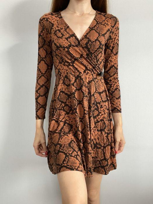Sukienka rozkloszowana wężowy wzor xs s Lublin - image 1
